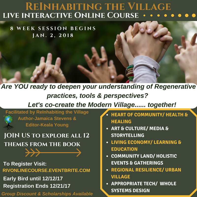 Reinhabiting the village introductory online course (2)
